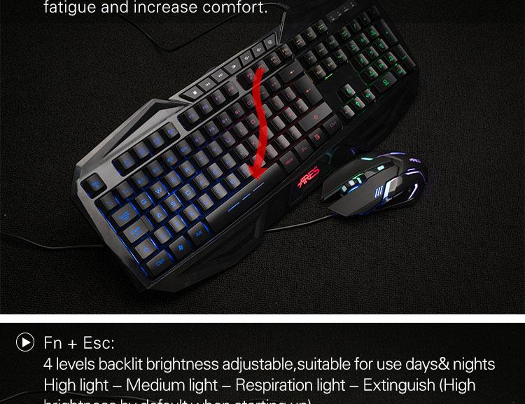 ares k3 uk layout rainbow color usb wired led backlit multimedia gaming keyboard ebay. Black Bedroom Furniture Sets. Home Design Ideas