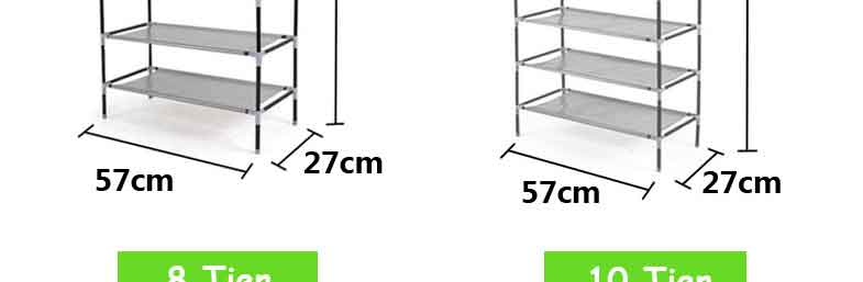 Home cabinet shelf stand 6 tier shoe rack stand organiser for Organiser un stand