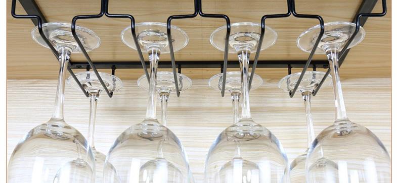 wine glass rack under cabinet hanging stemware hanger holder organiser 3 slot ebay. Black Bedroom Furniture Sets. Home Design Ideas